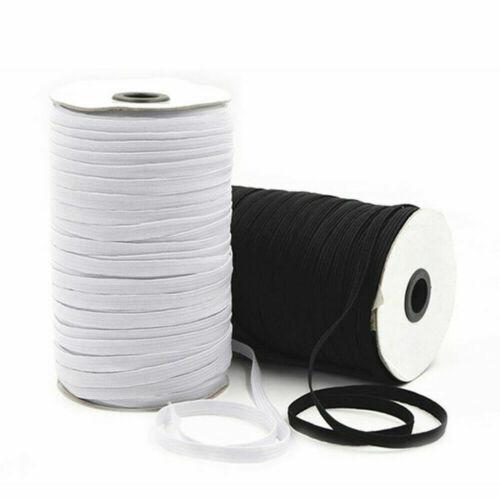 """10-200Yards 1//8/"""" 1//4/"""" Braided Elastic Band Cord Flat Trim Knit Sewing DIY Crafts"""
