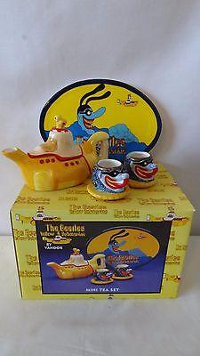The Beatles 2000 Vandor Yellow Submarine Mini Tea Set MIB #H175