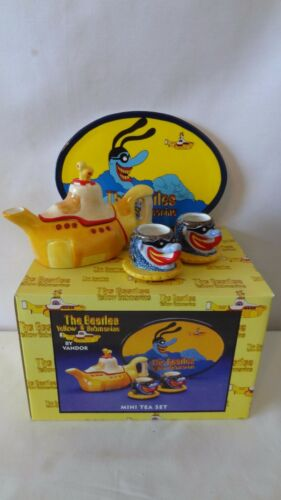 The Beatles 2000 Vandor Yellow Submarine Mini Tea Set MIB #J97