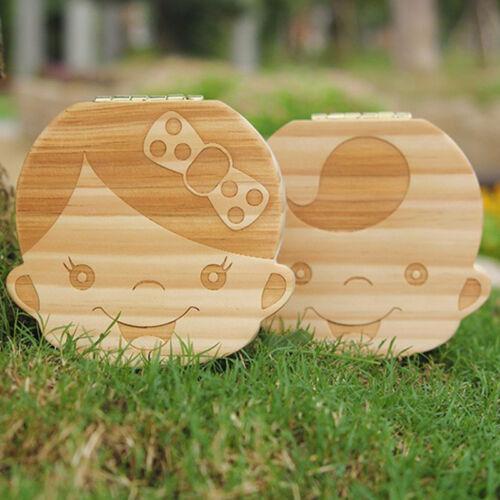 Tooth Box organizer for baby Save Milk teeth Wood storage box for Boy/&Girl kids