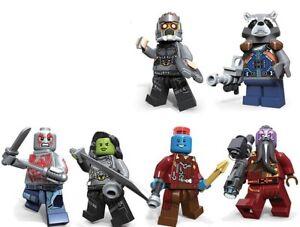 6 Pcs Guardians Of The Galaxy Mini Figure Nouveau Vendeur Britannique S'adapte Major Brand Blocks-afficher Le Titre D'origine