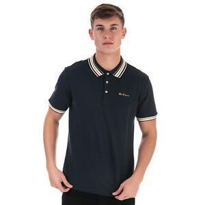 Mens Ben Sherman Fancy Tipped Polo Shirt In Navy