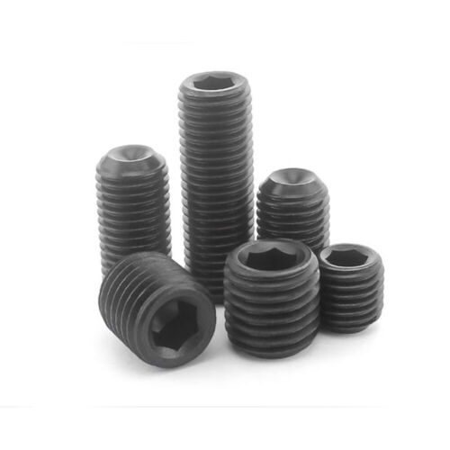 M2 M2.5 M3 M4 M5 M6 Black 12.9 Alloy Steel Hex Drive Cup Point Socket Set Screw