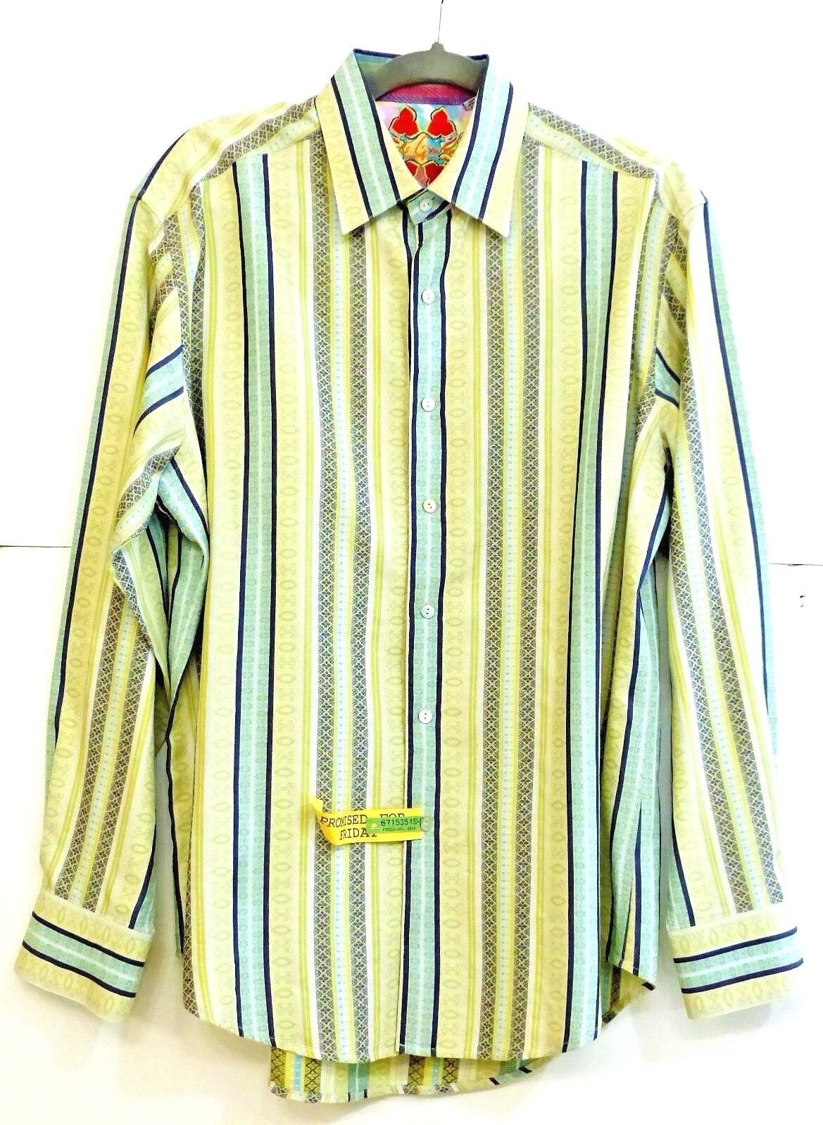 EUC Robert Graham Uomo's Size L/G 100% Cotton Stylish Stripe Shirt Long Sleeve Shirt Stripe MS 385248