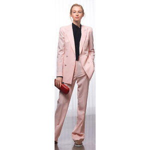 83ee0cd8682 Image is loading Pink-Double-Breasted-Office-Uniform-Designs-Women-Business-