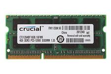 Crucial 4GB DDR3 2RX8 PC3L-12800S 1600MHz 204pin 1.35V SODIMM Laptop Memory RAM