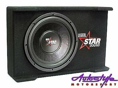 Starsound 12 inch 4100w Slimline Subwoofer and Compact Enclosure - wide range of car audio available