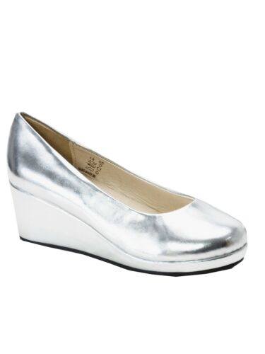 "Pazitos Girls Silver 11//4/"" Wedge The Platform Slip On Shoes 12.5-5 Kids"