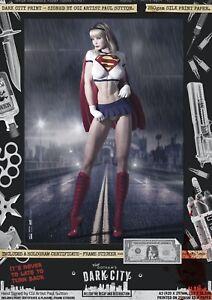 Linda-Danvers-Supergirl-Dark-City-Var-Signed-A3-Comic-Prints-Superman-DC