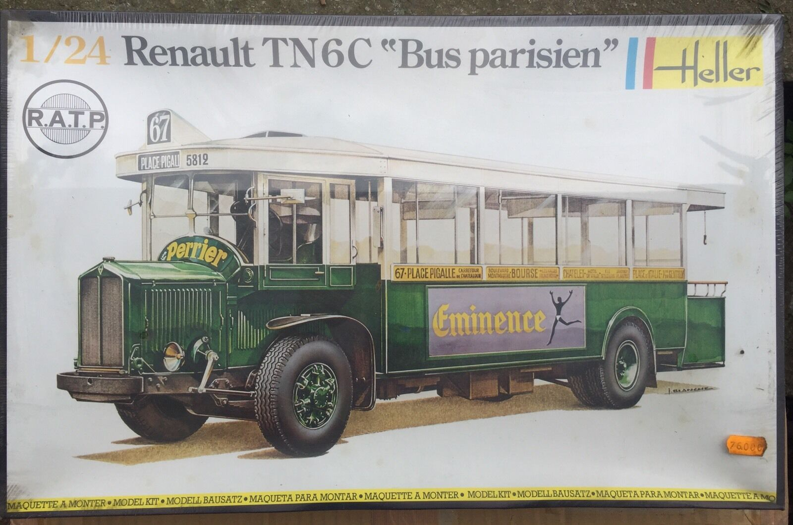 HELLER RENAULT TN6C BUS PARISIEN Scala 1:24 VINTAGE NEW!!!