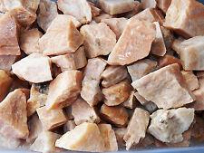 1/2 LB PEACH MOONSTONE  Rough Rock for Tumbling Tumbler Stones HEART CHAKRA FS
