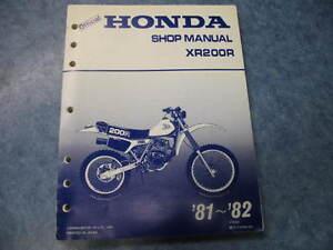 honda shop manual xr200r 1981 1982 xr 200 r 81 82 ebay rh ebay com