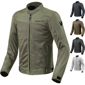 Eclipse Silver Summer Vented Textile Motorcycle JacketRev it Revit Rev/'it