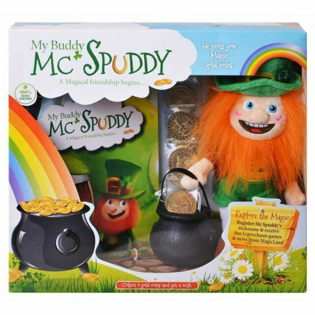 My Buddy Mc Spuddy Leprechaun Doll Irish St Patricks Gold Coins Story 7eeqzy1 For Sale Online Ebay