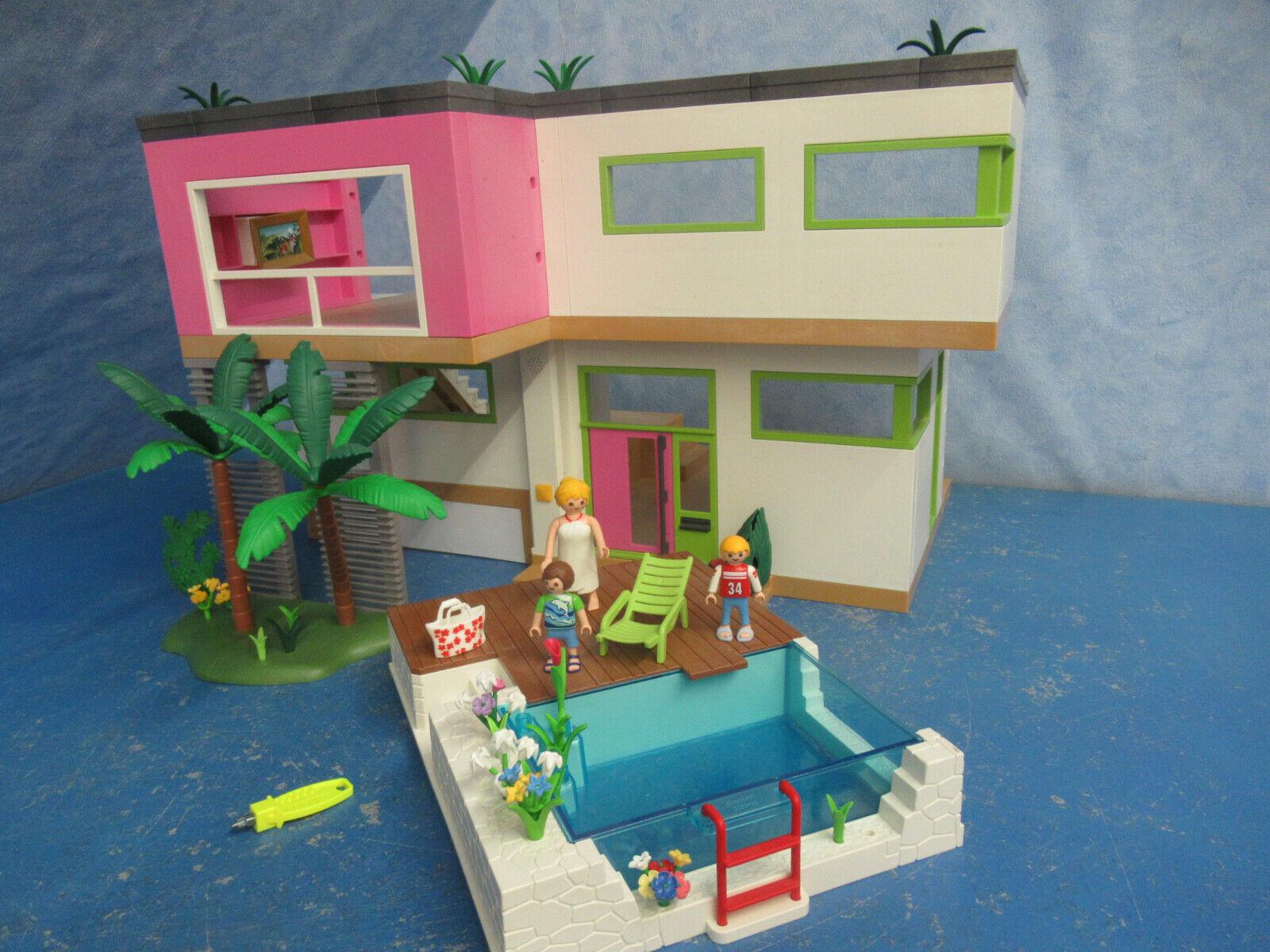 5574 Luxe Villa + 5575 piscine habitation V chambre sonnette Playmobil 7909