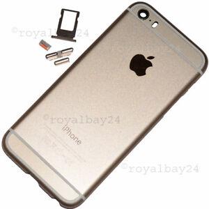 iPhone-5s-in-iphone-6-look-Aluminium-Mittel-Rahmen-Gold-Gehause-Tasten-NEU