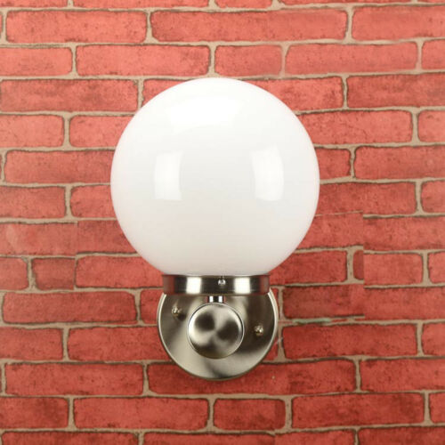 5W//10W//15W LED Outdoor Wall Sconce Light Fixture Stainless Lamp E27 Bulb Balcony