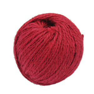50mx1-5mm-Twisted-Burlap-Jute-Twine-Rope-Cord-String-DIY-Gift-wrapping-Red-New