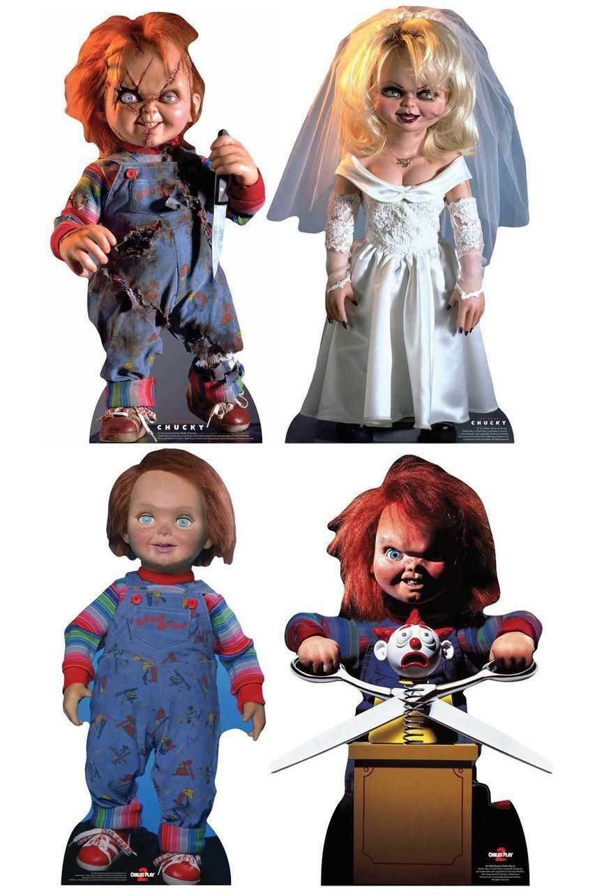 Chucky Collection Official LifeGröße Cardboard Cutouts Set of 4 Standees