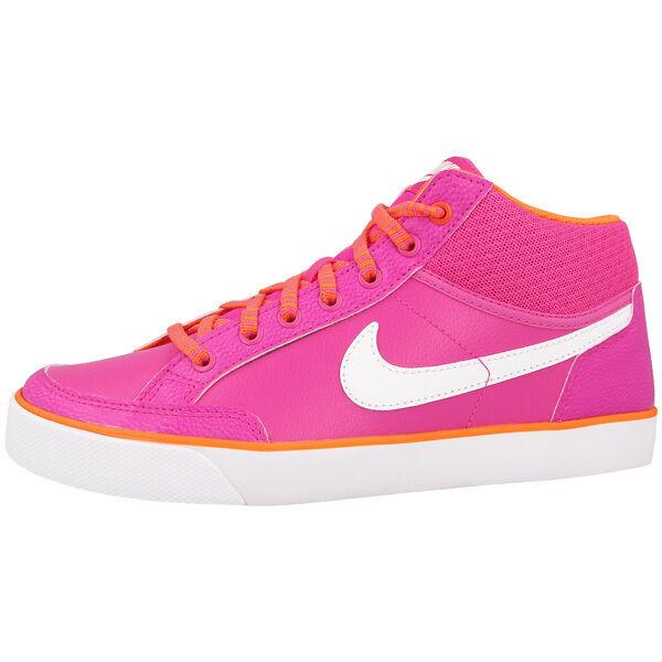 Nike Capri 3 Mid Cuir Chaussures de Sport Baskets Blanc Rose 580411-601 Flash