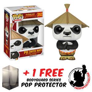 FUNKO-POP-KUNG-FU-PANDA-PO-WITH-HAT-VINYL-FIGURE-FREE-POP-PROTECTOR