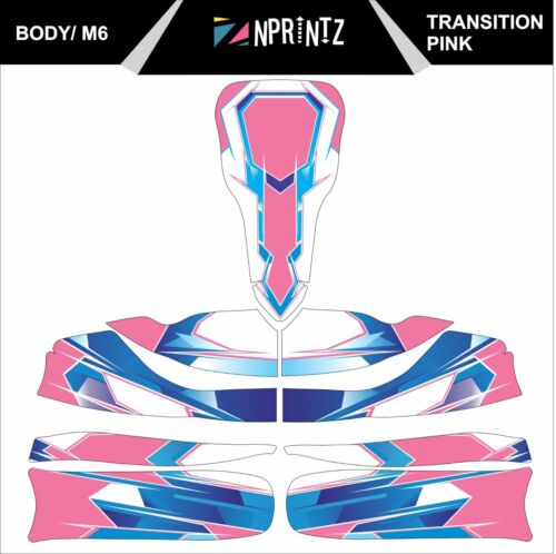 Transition M6 Rose Tonykart Style Complet Kart Sticker Kit to fit M6 Body