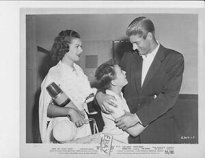 Barbara Hale Elroy Hirsch hugs boy VINTAGE Photo Unchained
