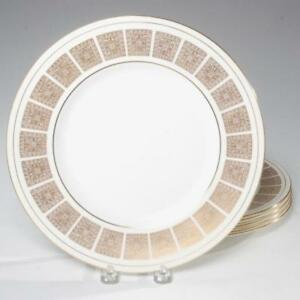 Image is loading SET-OF-5-MINTON-ATHENA-GOLD-W-IVORY- : athena dinnerware - pezcame.com