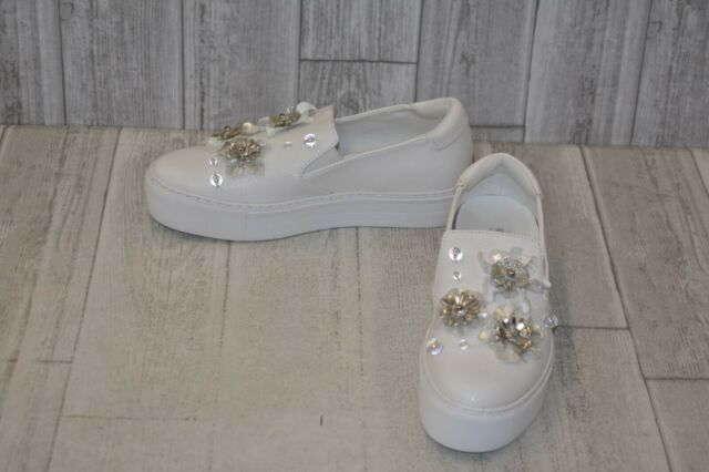 28e9cd7c64165 Kenneth Cole Reaction Women's Cheer Floral Platform SNEAKERS White Size 8.5  M US