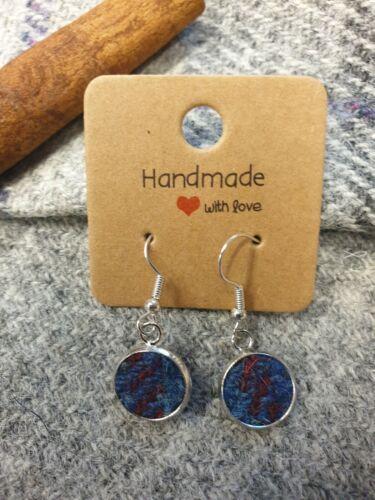 Genuine Harris Tweed Handmade Drop Earrings