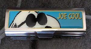 Peanuts-Snoopy-034-JOE-COOL-034-Metal-Eyeglass-Case-Tampon-Case-By-Vandor-NOS-NIB