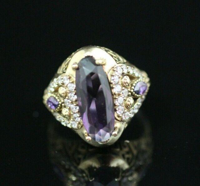 Turkish Handmade Jewelry Sterling Silver 925 Amethyst Ring Size 6,7,8,9,10 BYAO3
