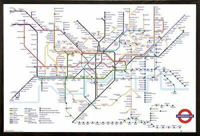 LONDON UNDERGROUND WHITE MAP POSTER 24x36-34314
