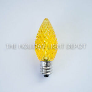 C7 Led Christmas Lights.Details About Box Of 25 C7 Yellow Led Christmas Light Bulb Faceted Led Retro Fit Dimmable