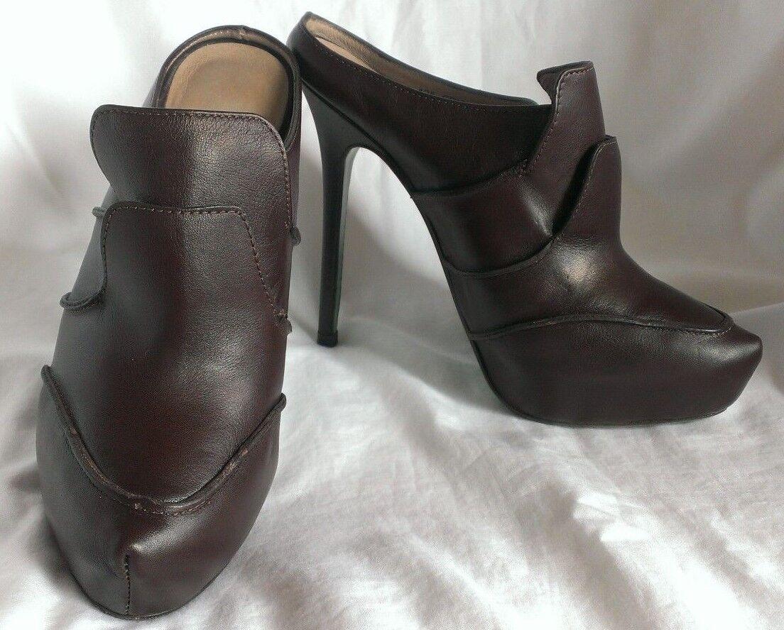 Lisa For Donald J Pliner marron Plateforme Talon Haut chaussures en Cuir Taille 6.5 M