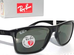 2783bb2d59 NEW  Ray Ban Modern Wayfarer Black 58mm POLARIZED Grey Sunglass RB ...