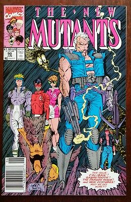New Mutants #90 1990 Marvel X-Men, Cable, New Costumes Newsstand 7.5 VF-