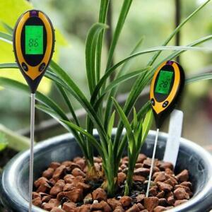 4in1 PH Soil Tester Water Moisture Light Temp Meter Plant Flower Garden PH Test