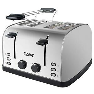 Toaster 4 Scheiben Brötchenaufsat