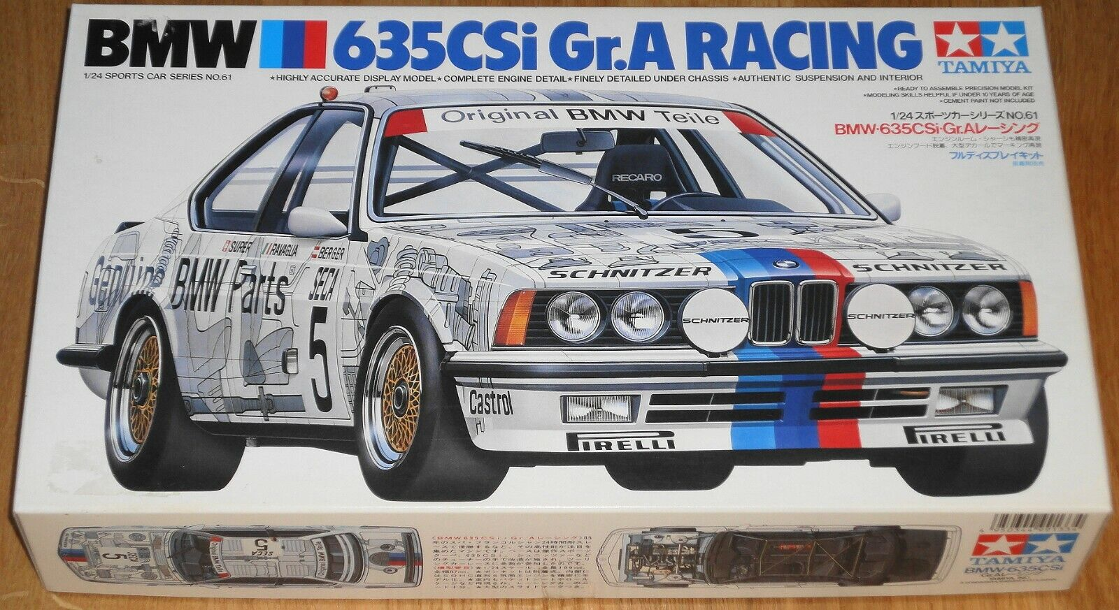 TAMIYA 24061 BMW 635CSi Gr.A RACING 1 24