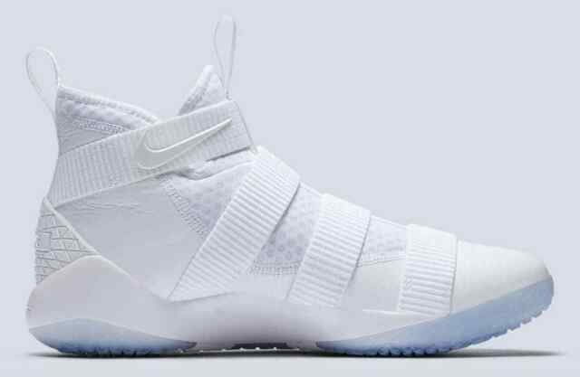 9aa339711a67 Nike Men s Lebron Soldier Ix Mid-Top White Basketball Shoe Size 7.5 US Mens