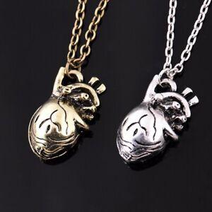 Retro-Unique-3D-Anatomical-Human-Hollow-Heart-Pendant-Necklace-Sweater-Chain