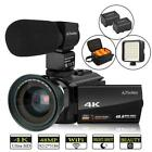 4k Camcorder HD Digital LED Video Camera 3.0 Touch Screen WiFi Microphone
