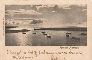 Rare-Vintage-Postcard-Portrush-Harbour-Antrim-Northern-Ireland-Aug-1903