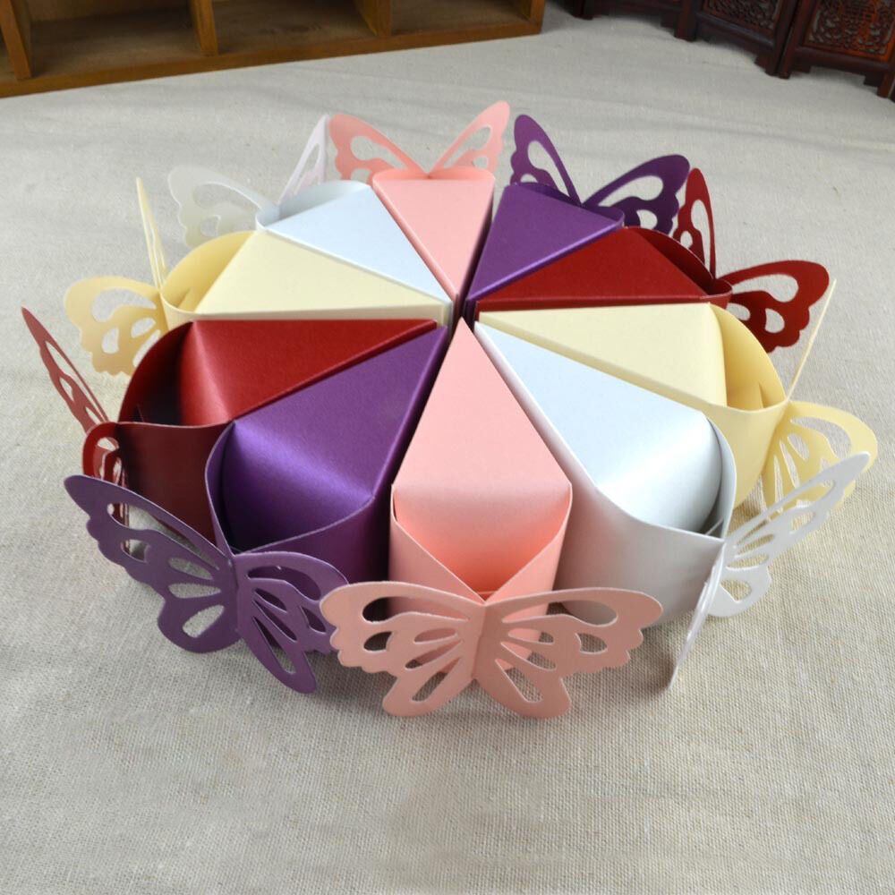 Butterfly Bomboniere Boxes Baby Birthday Bridal Wedding Favors Creative Boxes J