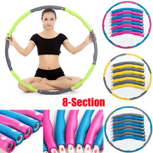 Weighted-Foam-Abdominal-Exerciser-Fitness-Hula-Hoop-Core-Strength-Sport-Workout