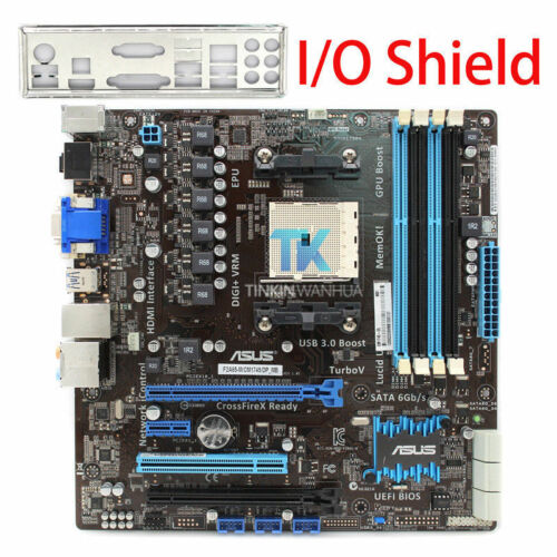 Motherboard  for ASUS F2A85-M//CM1745//DP-MB AMD CPU FM2 DDR3 I//O Shield