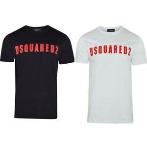 DSQUARED2-T-Shirt-Short-Sleeves-Slim-Fit-Printed-Logo-All-Sizes-S-M-L-XL-XXL