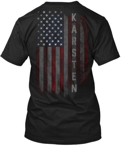 Karsten Family American Flag Hanes Tagless Tee T-Shirt