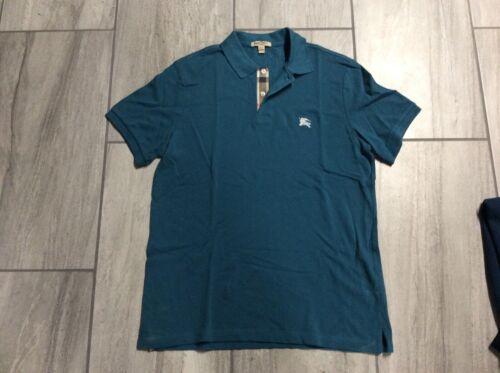 Burberry Brit Men's Polo Shirt XL Teal Short Sleev